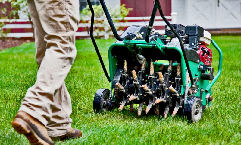 aeration equipment from perma-green for a great northwest Indiana lawn