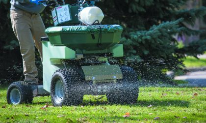 You should apply winterizer when the grass stops growing in the fall, but also while it is still active in the root system. You can tell that your grass is still active by the strong green color.