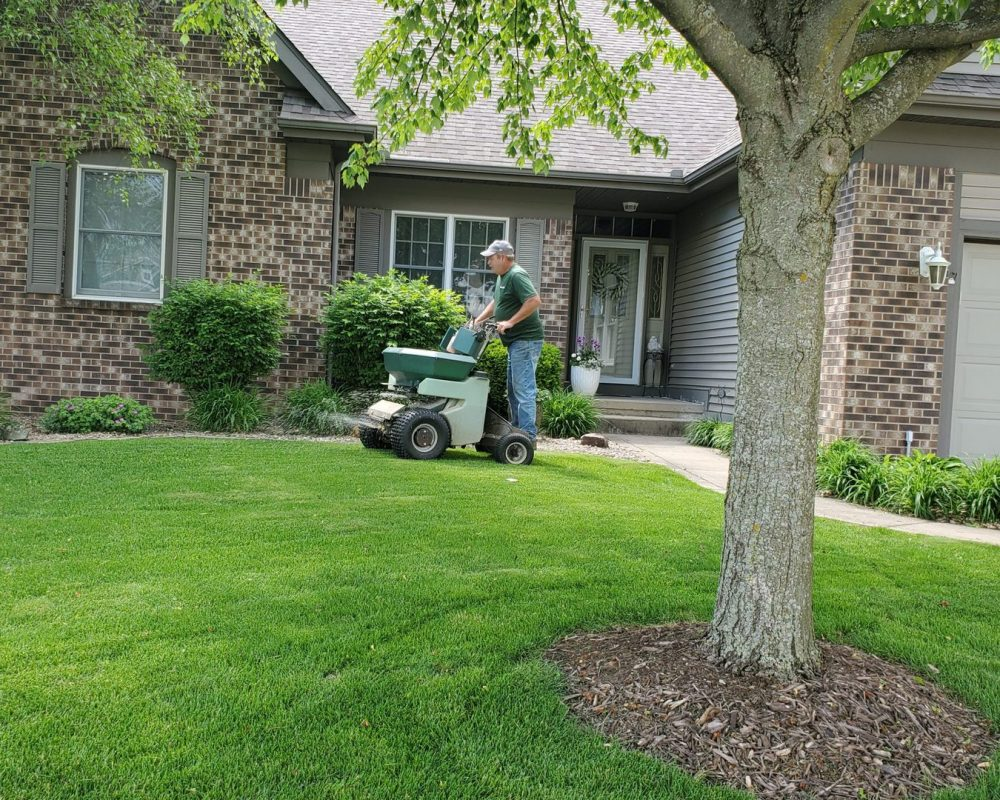 Choosing the right lawn care plan or lawn care program is key to having a lawn like this home in Valparaiso.