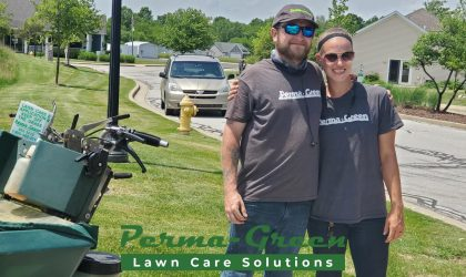 A Fall lawn program is a two-step fertilization process.