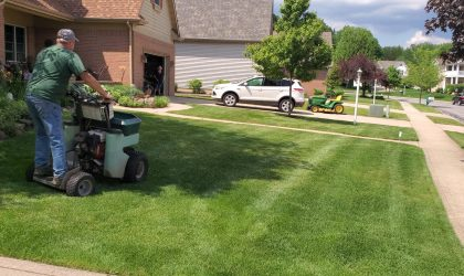 """""""A beautiful lawn doesn't happen by itself'"""". Taking time to treat your lawn in October and November, when it needs it the most, can turn your neighbors head when they see your lawn greener when most lawns start showing signs of going dormant- but make no mistake about it, the biggest advantage of fall lawn fertilization and grass winterizer treatments are rewarded next spring and summer."""
