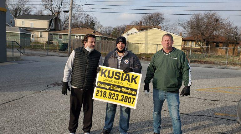Steve Daly, Chris Pavlou and Dave Kusiak fight hunger